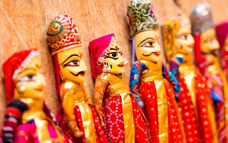 عروسک های رنگارنگ راجستانی