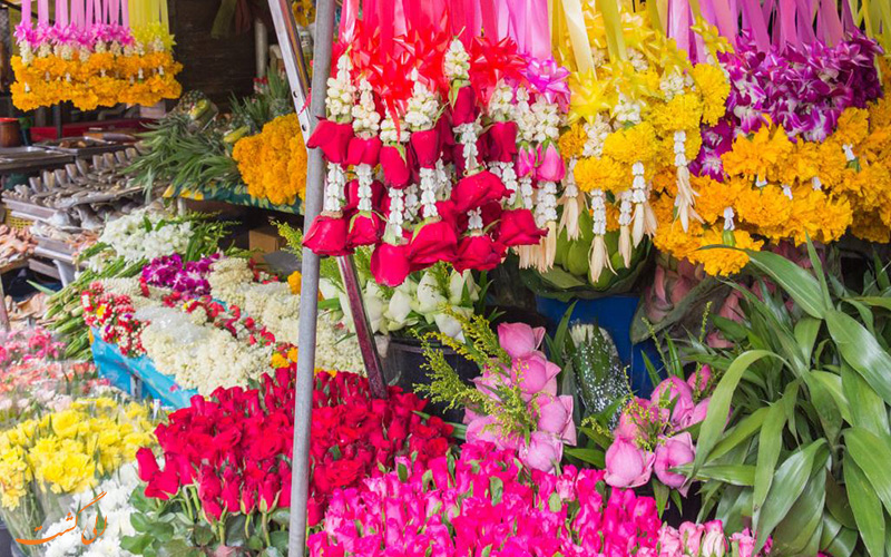بازار گل بانکوک و تماشای مناظر رنگارنگ شهر