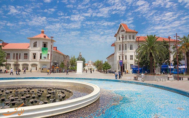میدان شهرداری رشت در روز روشن
