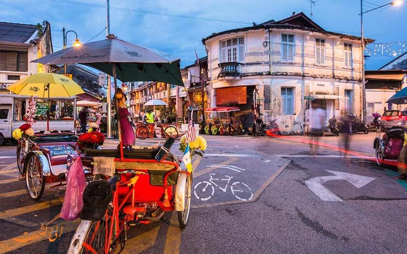 جورج تاون پنانگ از توریستی ترین شهرهای مالزی