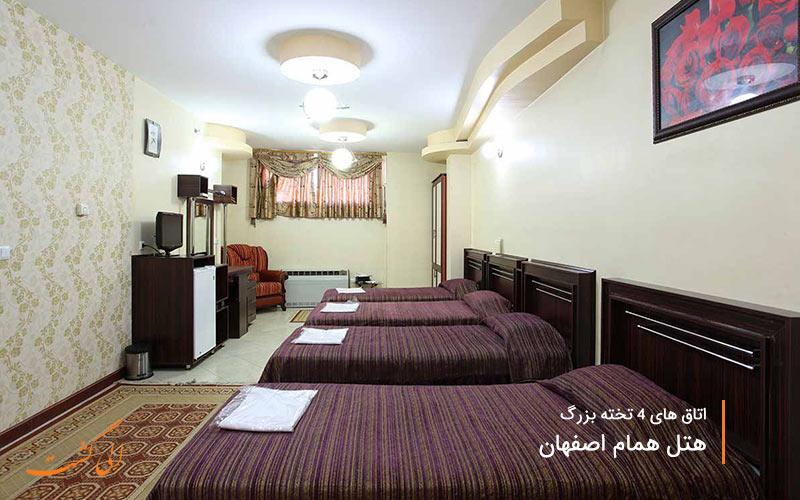 نمای داخلی هتل همام و اتاق ها