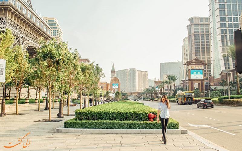 شهر ماکائو و گردشگری در خیابان-تفاوت هنگکنگ، ماکائو و چین