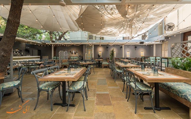 فضای جذاب رستوران د بلو در از جاهای دیدنی بمبئی