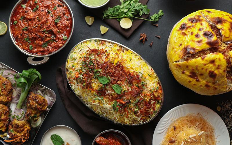 غذای رستوران دربار بمبئی