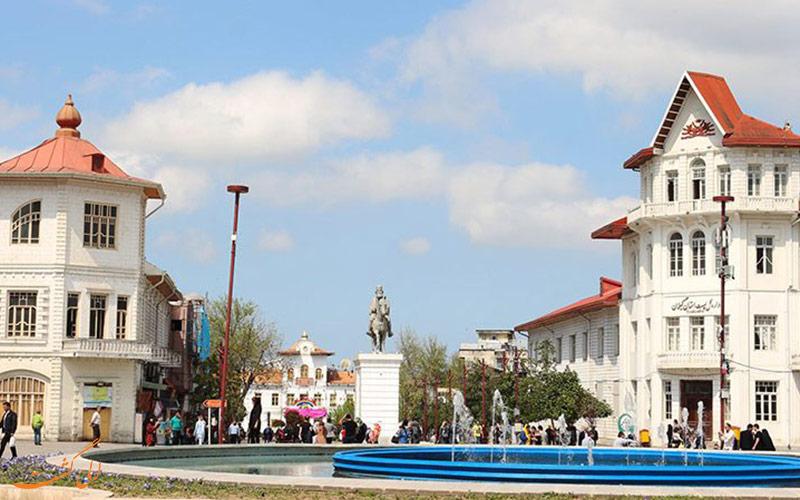 ساختمان های میدان شهرداری رشت از زاویه ای دیگر