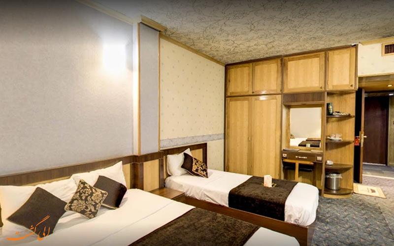 اتاق های 2 تخته ی هتل ستاره اصفهان