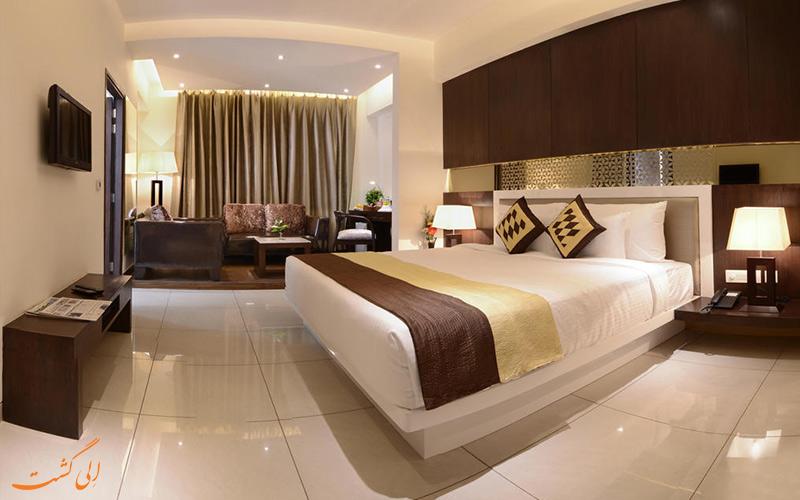 اتاق های بزرگ هتل تاج ویلاس آگرا -بهترین هتل های 3 ستاره آگرا