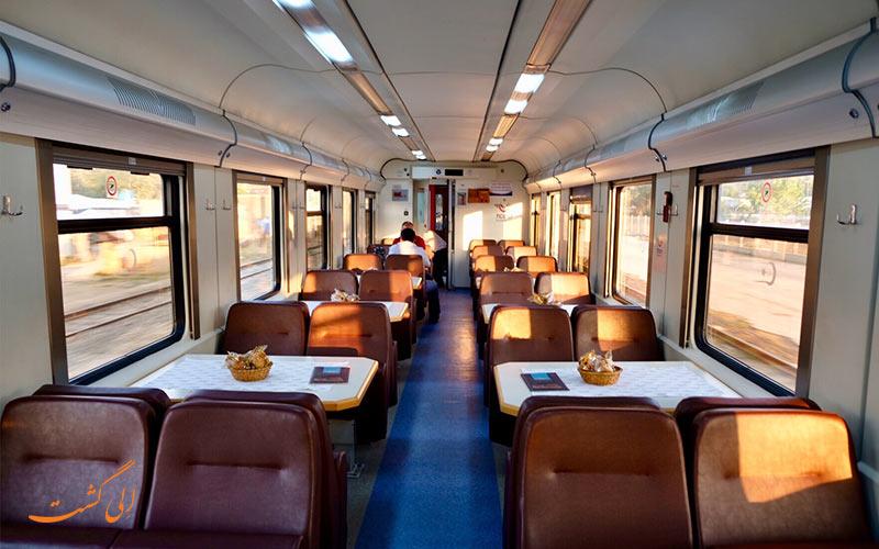 عکس کوپه رستوران قطار آنکارا ارزروم ترکیه
