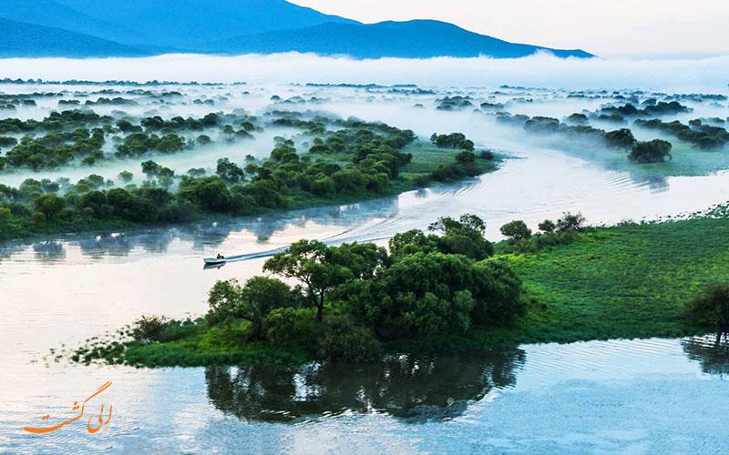 شنا و قایق سواری در رودخانه های چین