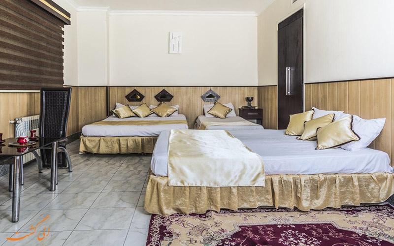 اتاق خواب های هتل توتیا