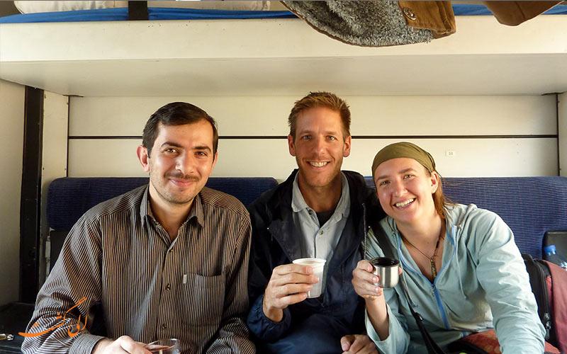 مسافران خارجی در سفر به ترکیه با قطار تبریز وان