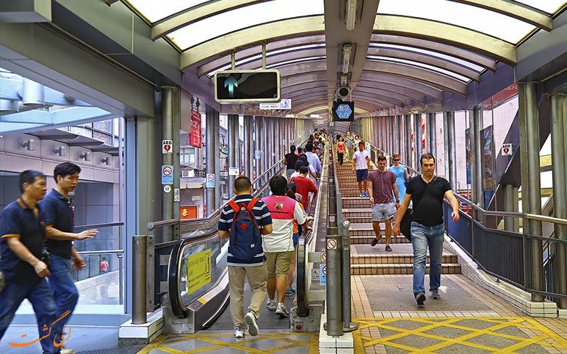 پله برقی ها یکی از حمل و نقل عمومی در هنگ کنگ