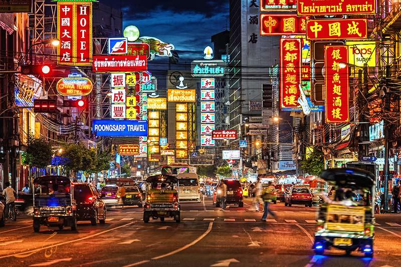 معروف ترین خیابان در محله چینی های بانکوک