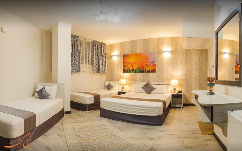 اتاق خواب های هتل آفتاب