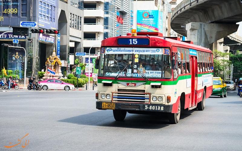 اتوبوس های داخل شهری، ارزان ترین راه برای جابه جایی در بانکوک