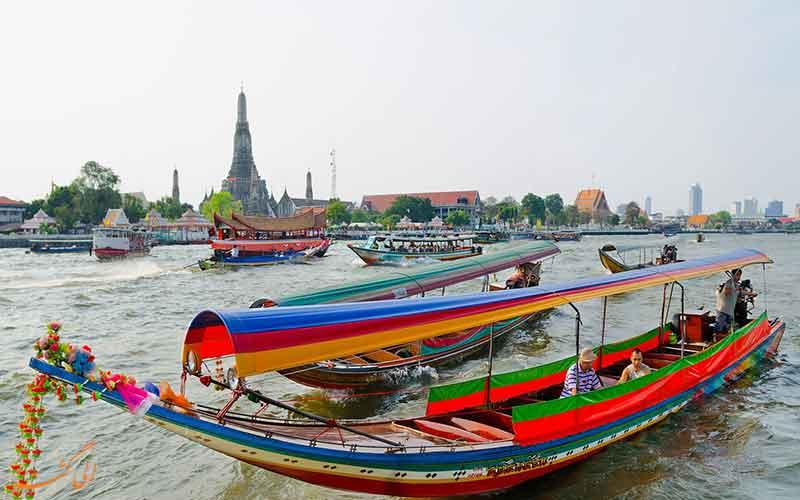 تاکسی های قایقی، بهترین راه رسیدن به کاخ بزرگ بانکوک