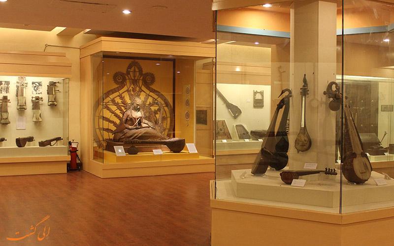 نمایی از داخل گالری قرون وسطی موزه ملی دهلی نو