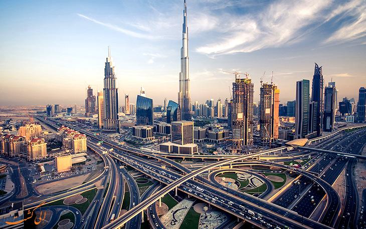 نمای از دبی، مشهورترین شهر دیدنی امارات