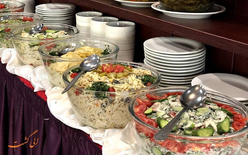 بوفه و منوی رستوران هتل چمران شیراز