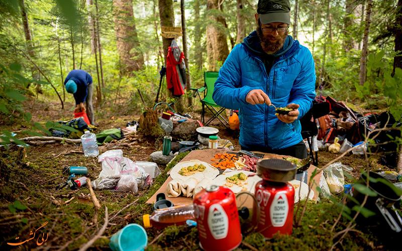 غذا در سفرهای بک پکینگ اصول تغذیه در کوله گردی