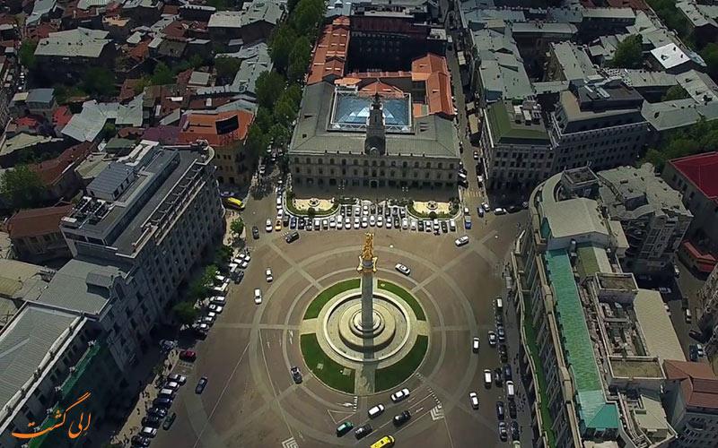 عکس هوایی از میدان آزادی تفلیس