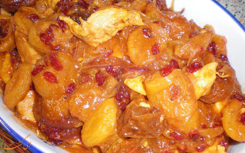 خورشت آلو، غذای خوشمزه و محبوب شهر ساری