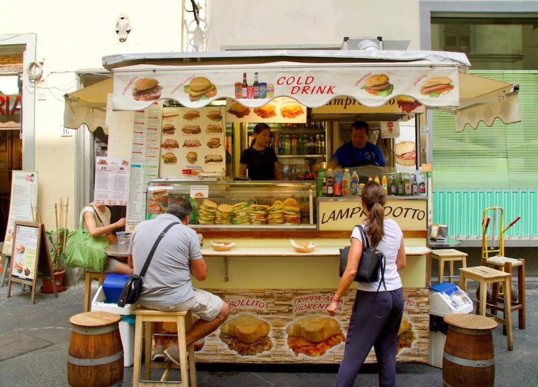لمپردوتو و غذاهای خیابانی فلورانس