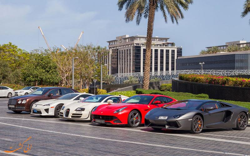 لنواع مختلفی لز ماشین های اجاره ای در دبی