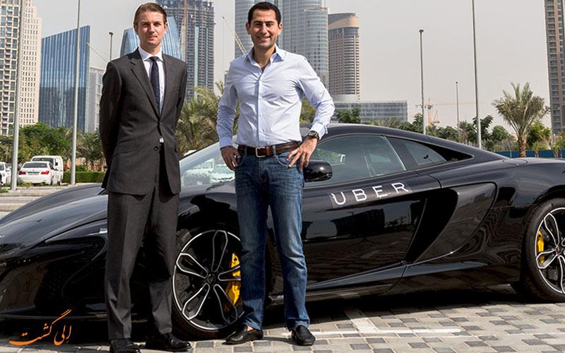 اوبر، یکی از آژامس های اجاره ی ماشین در دبی