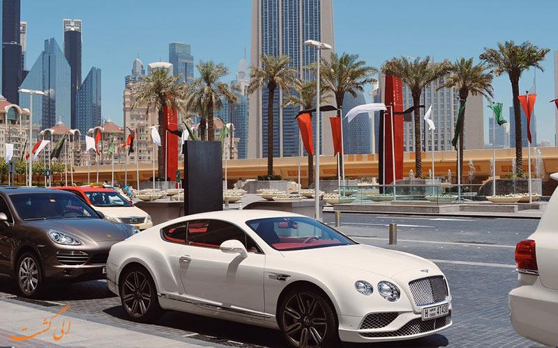 انواع ماشین های لاکچری در خیابان های دبی
