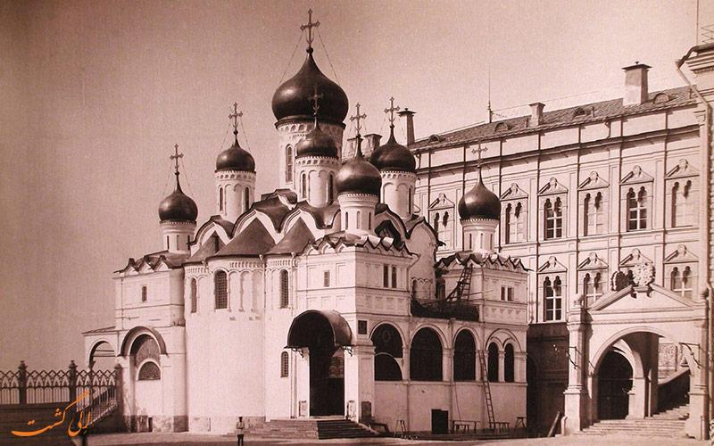 تصویری قدیمی از کلیسای جامع بشارت مسکو