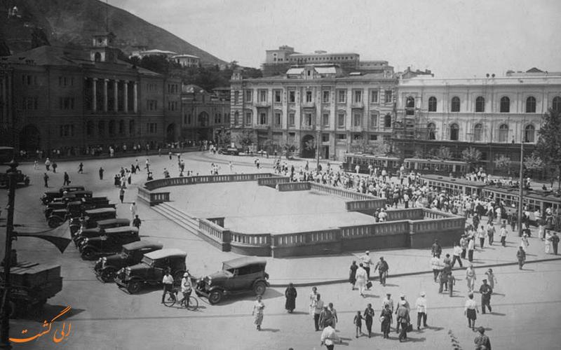 تصویری قدیمی از میدان آزادی تفلیس