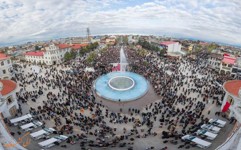 تصویر پاناروما میدان شهرداری رشت