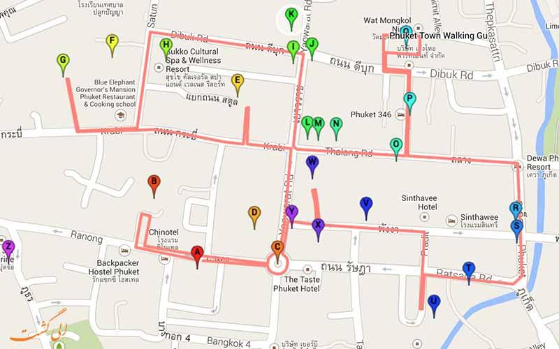 نقشه شهر قدیمی پوکت