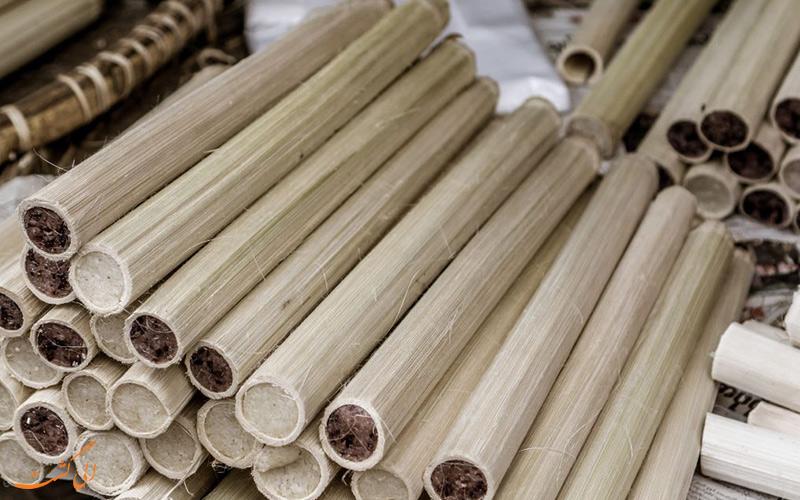 برنج شفته داخل بامبو