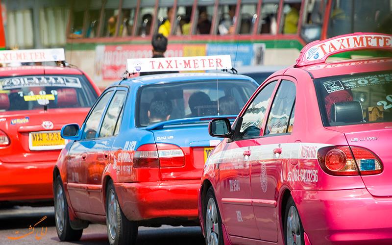 تاکسی ها شیوه ای گران برای حمل و نقل در سفر تنهایی به بانکوک