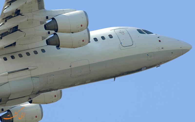 عکسی از تاسیسات زیرین هواپیمای ایروسپیس 146