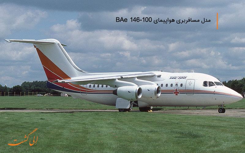 هواپیمای انگلیسی BAe-146-100 در ناوگان هواپیمایی جهان