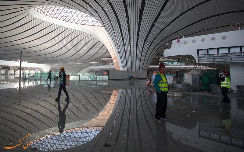 مسافران فرودگاه داکسینگ پکن
