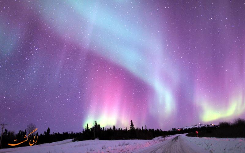 مشاهده پدیده سپیده قطبی روسیه