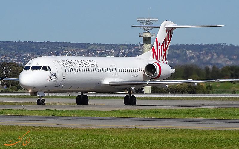 هواپیما فوکر 100 در ویرجین ایرلاین استرالیا