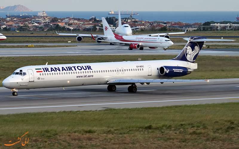 هواپیماهای MD80 شرکت ایران ایر تور