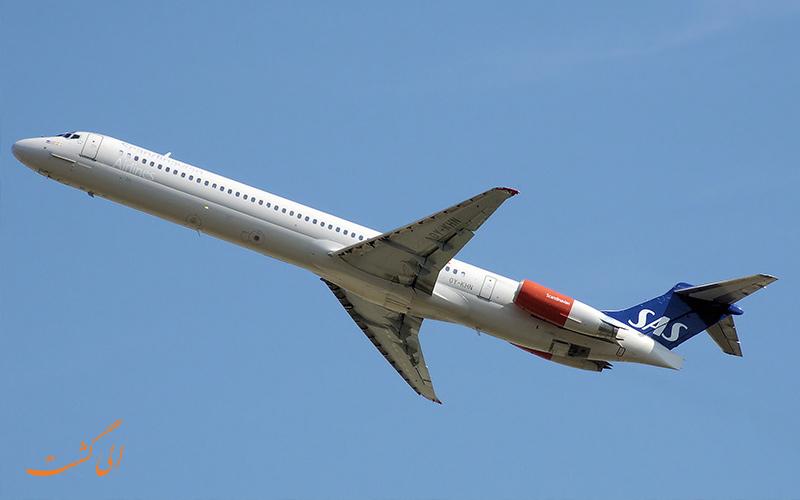 نمونه ای از هواپیمای مک دانل داگلاس یا هواپیما بوئینگ ام دی