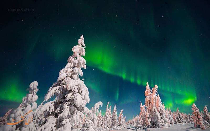 نوایا زملیا بهترین منطقه روسیه برای دیدن شفق قطبی