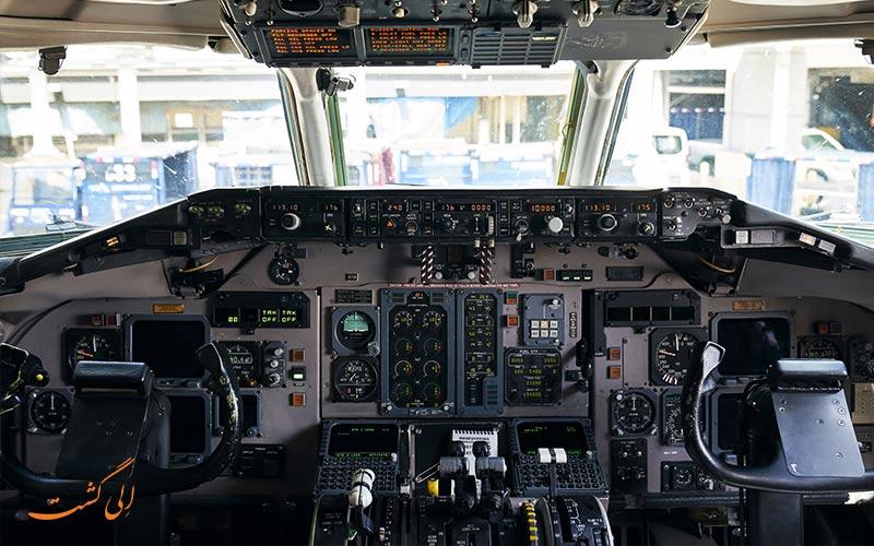 کابین خلبان اولیه در هواپیمای بوئینگ md در مدل 81