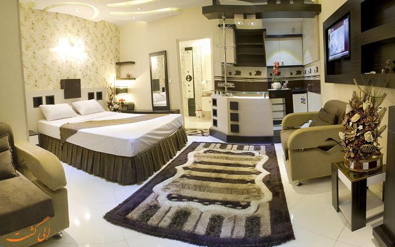 عکس یکی از واحدهای هتل آپارتمان اسپینو مشهد