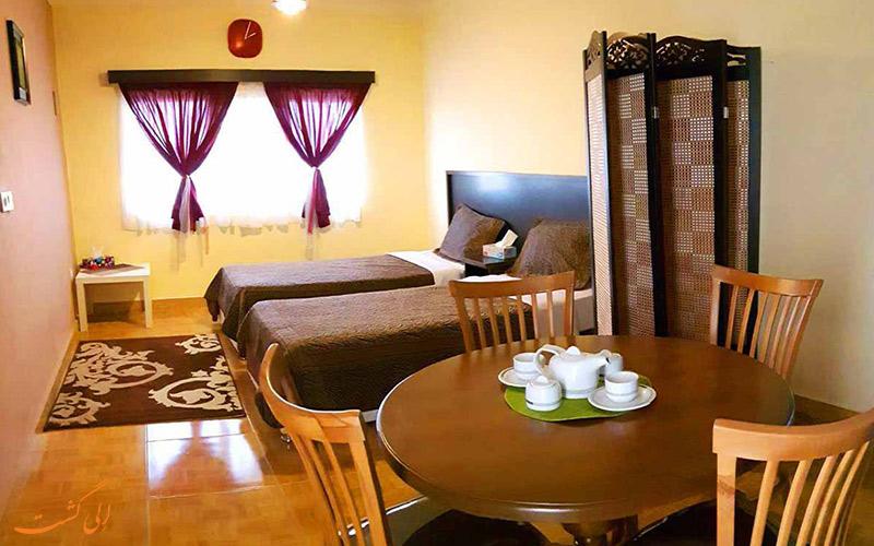 نمایی از اتاق دو تخته ی بوتیک هتل فولتون قشم
