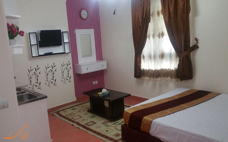 امکانات واحدهای هتل آپارتمان گلاره مشهد