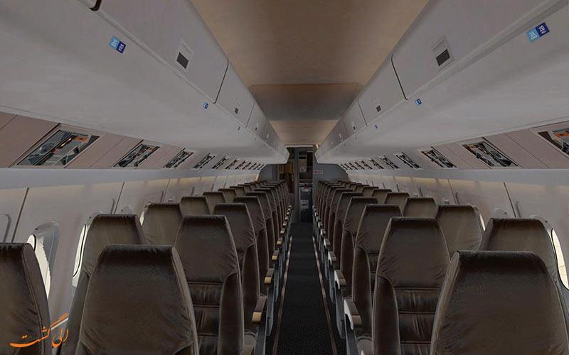 چیدمان صندلی های داخلی فوکر 50
