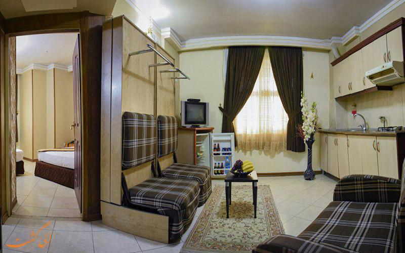 عکس یکی از واحدهای هتل پاویون مشهد